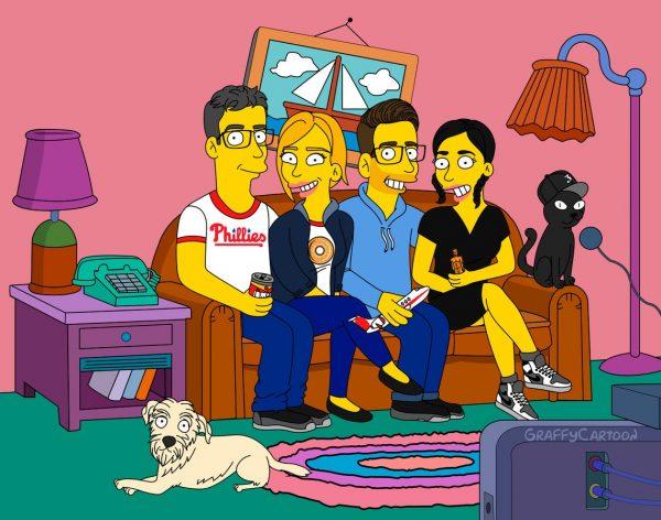 Simpsons portrait